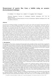 Measurement of species flux from a bubble using an acousto ...