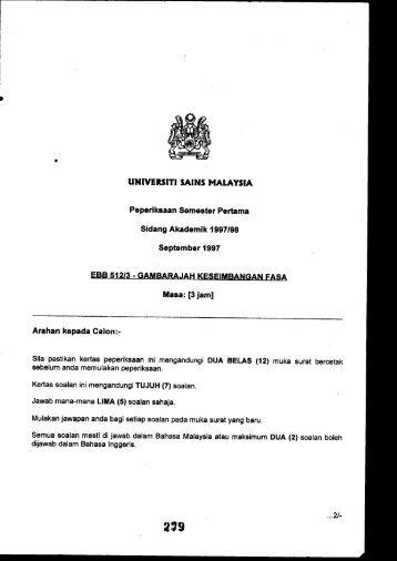UNIVERSITI SAINS MAIAYSIII Sidang Akademik 1 ... - ePrints@USM