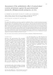 Assessment of the anthelmintic effect of natural plant - White Rose ...