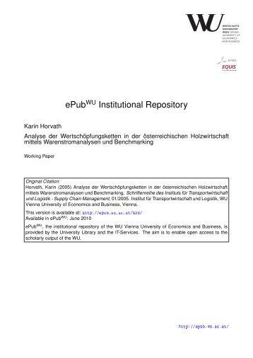 ePub Institutional Repository - ePub WU - Wirtschaftsuniversität Wien