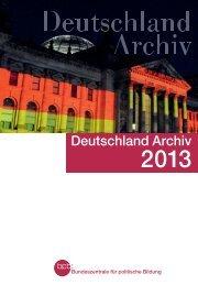 Deutschland Archiv 2013 - Bundeszentrale für politische Bildung