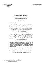 über die Entwürfe eines Gesetzes betreffend den ... - bundestag.de