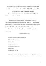 Differential effects of a dual orexin receptor antagonist (SB-649868 ...
