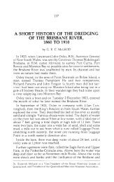 a short history of the dredging of the brisbane river ... - UQ eSpace