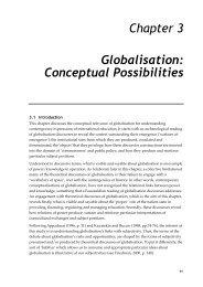 Chapter 3 Globalisation: Conceptual Possibilities - UQ eSpace