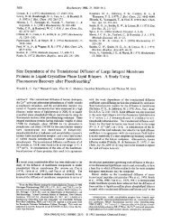 Size Dependence of the Translational Diffusion of Large Integral ...
