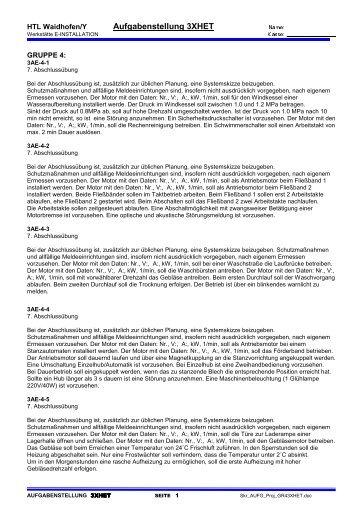 Page 1 HTL Waidhofen/Y Aufgabenstellung 3XHET ...