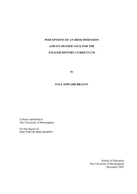 View - eTheses Repository - University of Birmingham