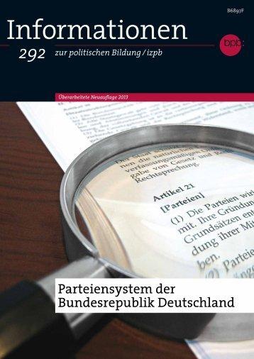 Informationen zur politischen Bildung/izpb 292 - Bundeszentrale für ...