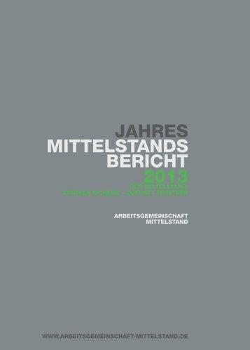 Jahresmittelstandsbericht 2013 - Bundesverband der Deutschen ...