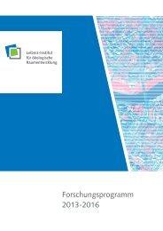 Forschungsprogramm 2013-16 - Leibniz-Institut für ökologische ...