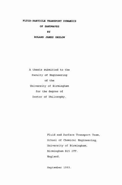 bham thesis repository