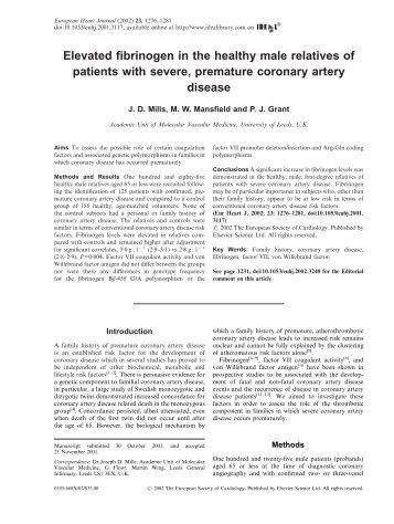 View - European Heart Journal