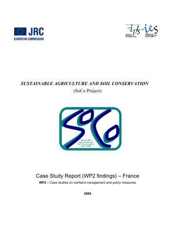Case Study Report (WP2 findings) – France - European Soil Portal