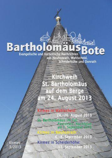 Kirmes - Evangelischen Kirchengemeinde Wahlscheid