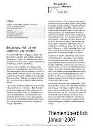 Themenüberblick Januar 2007 - Evangelische Akademie Bad Boll