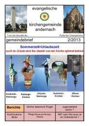 Gemeindebrief 2/2013 - Ev-kirche-andernach.de