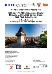 Gemeinsames Chapter Meeting von IEEE Joint IAS/PELS/IES ...