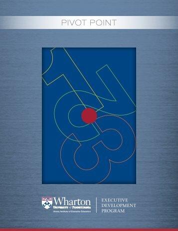 Download brochure - Wharton Executive Education - University of ...