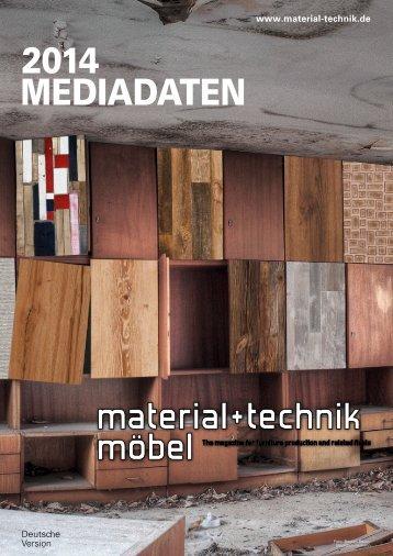 Mediadaten Download - material+technik möbel Fachzeitschrift