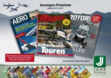 Anzeigenpreisliste LUFTFAHRT 2014 - Jahr Top Special Verlag