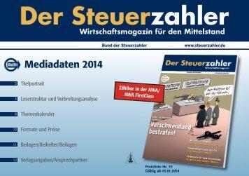 Mediadaten 2014 - BdSt Steuerzahler Service GmbH