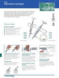 laboratory syringes - Fisher UK Extranet