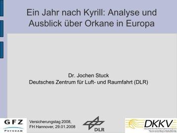 Ein Jahr nach Kyrill: Analyse und Ausblick über Orkane in Europa