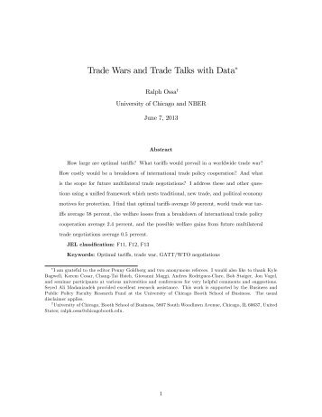Trade Wars and Trade Talks with Data∗ - Faculty - The University of ...