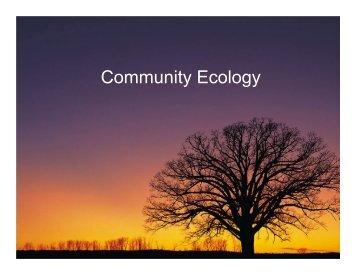 Community Ecology - Weber State University