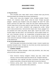 MANAGEMENT STRESS (MANAJEMEN STRES) - File UPI