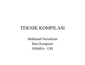 TEKNIK KOMPILASI - File UPI