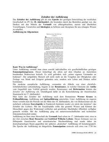 Zeitalter der Aufklärung - File UPI
