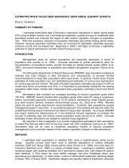 2007 summaries of wildlife research findings - Minnesota ...