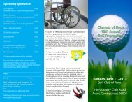 Chariots of Hope 12th Annual Golf Tournament ... - Sports Websites