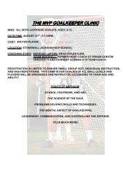 the mvp goalkeeper clinic the mvp goalkeeper clinic