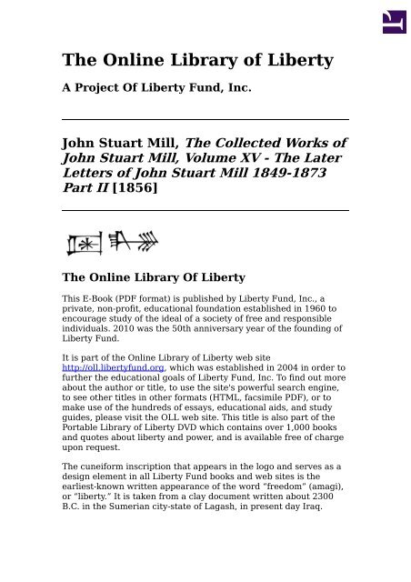 Online Library Of Liberty The Collected Works Of John