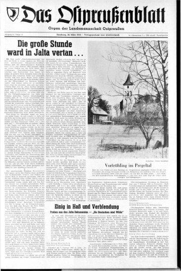 Folge 13 vom 26.03.1955 - Archiv Preussische Allgemeine Zeitung