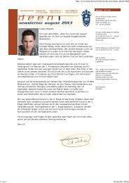 Der Clubeigene Newsletter, alle zwei Monate neu... - Branchenbuch ...