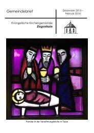 Gemeindebrief der Ev. Kirchengemeinde Ziegenhain Dezember ...