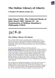 Online Library of Liberty: The Collected Works of John Stuart Mill ...