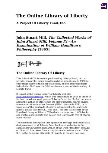 Collected online works of robert bruce astral dynamics online library of liberty the collected works of john stuart mill fandeluxe Gallery