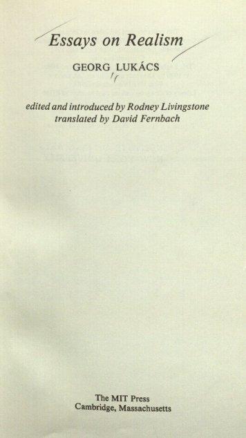 essays on realism essays essays on realism affordable prices best  essays lukacs essays