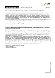 Aufgabensammlung: Lösungen – Atmung und Gärung (2)