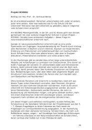 Projekt SCHNAU Beitrag von Ass.-Prof. Dr. Gertraud Benke Es ist ...