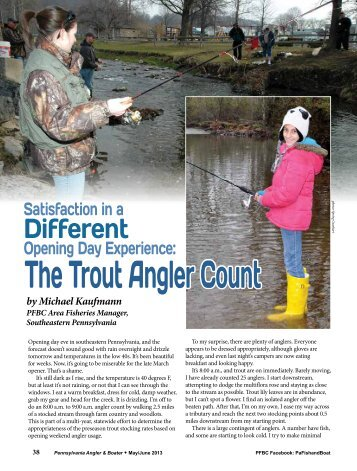 The Trout Angler Count by Michael Kaufmann - Pennsylvania Fish ...