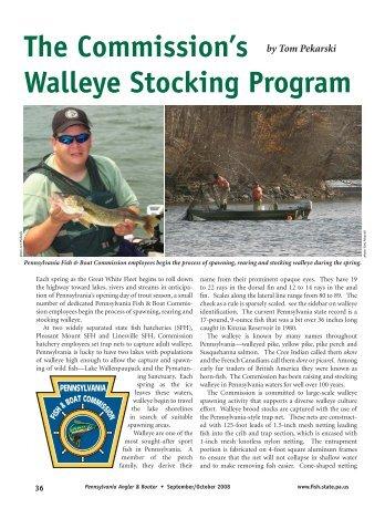 The Commission's Walleye Stocking Program - Pennsylvania Fish ...