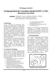TTC-Report 2010-01 (in German) - FLASH - Desy