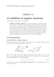 13 Addition of angular momenta
