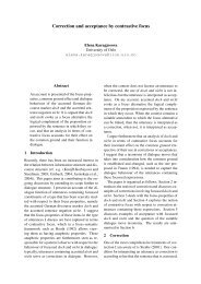 Correction and acceptance by contrastive focus